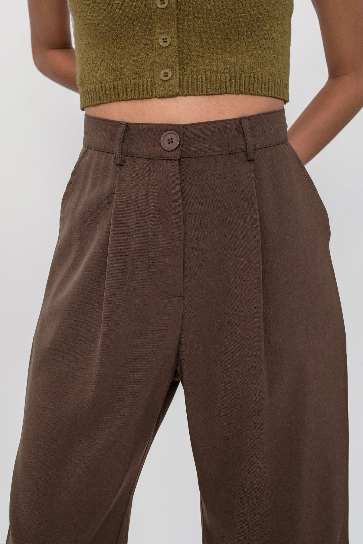 Clan Straight Leg Culottes (Dark Brown)