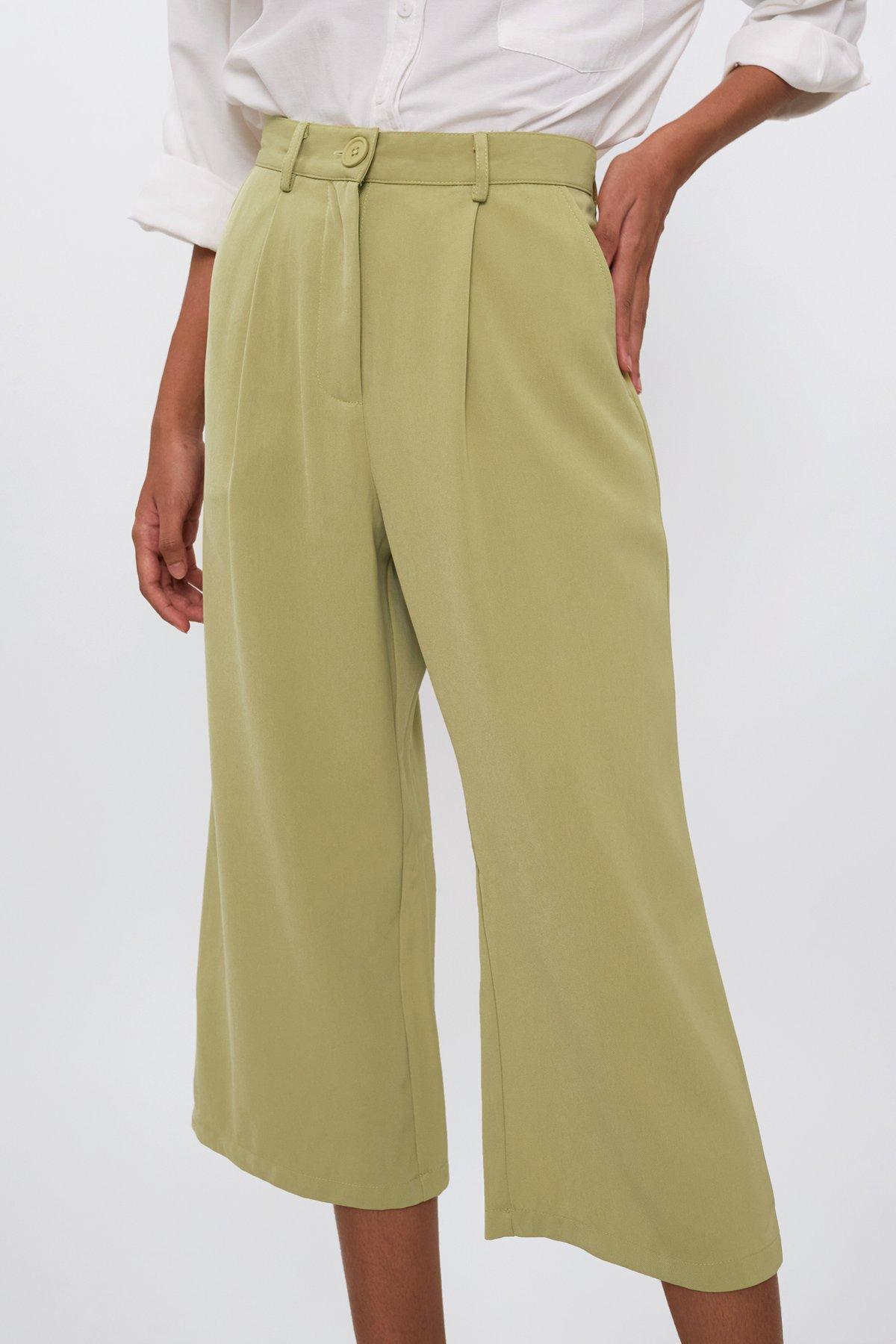 Clan Straight Leg Culottes (Avocado)
