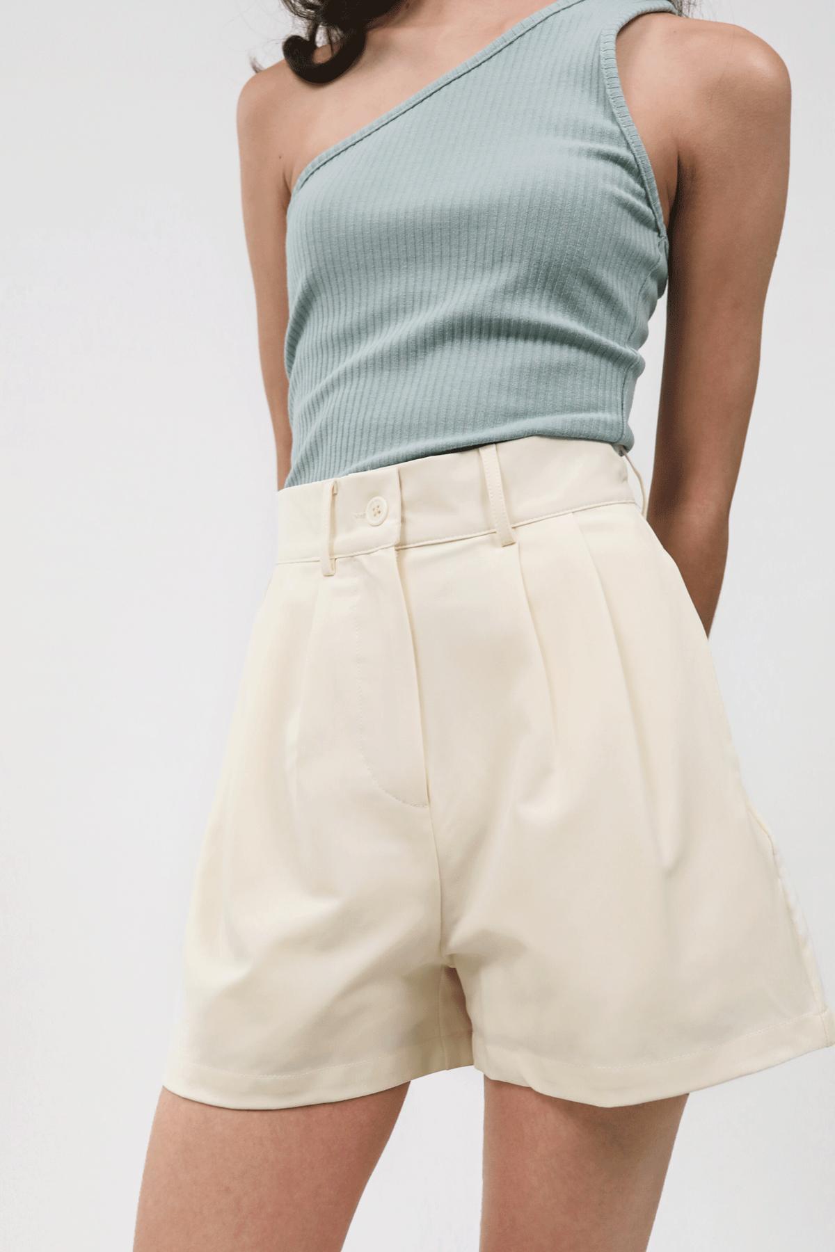 Dex Tailored Shorts (Cream)