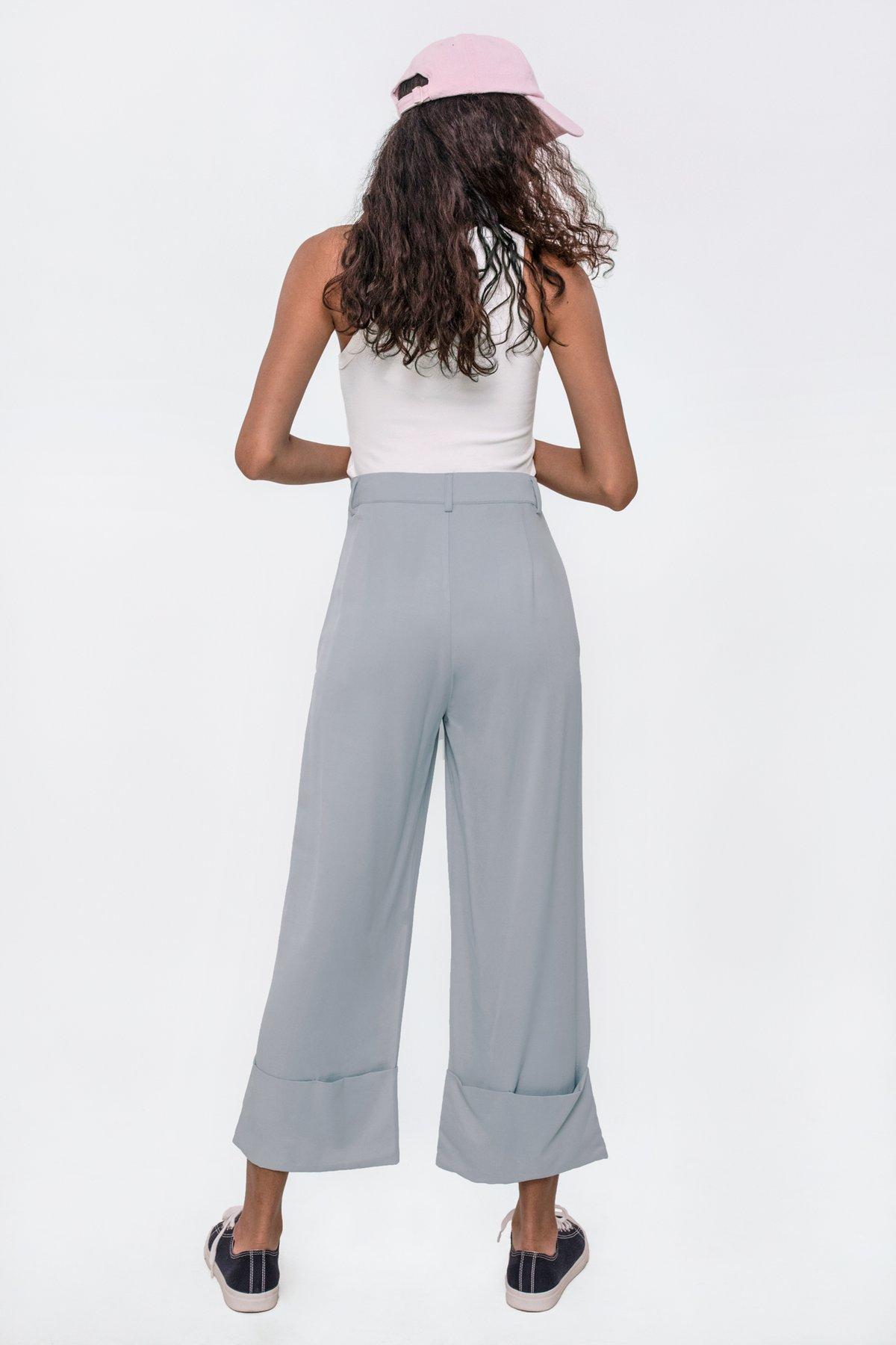 Marnie Cuffed Pants (Ash Blue)