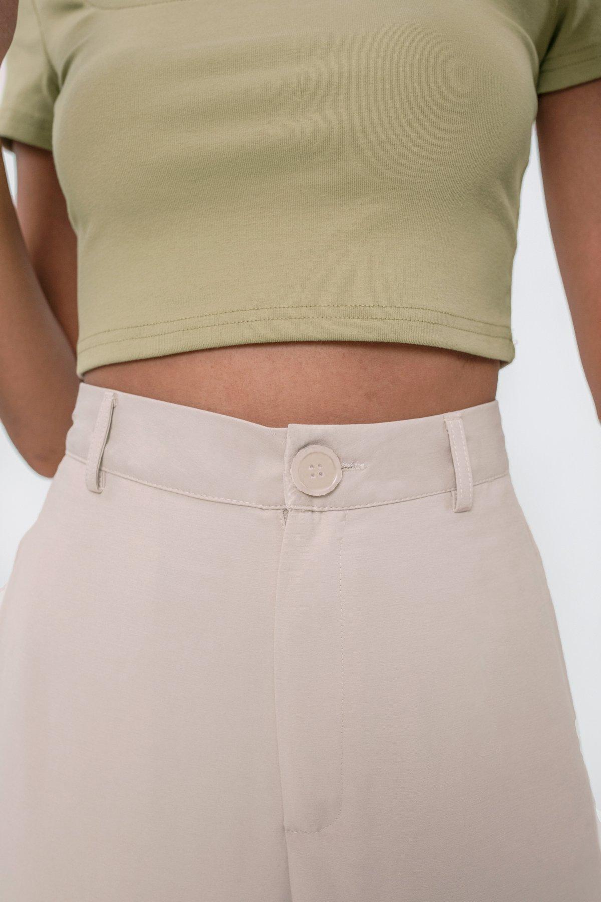 Marnie Cuffed Pants (Beige)