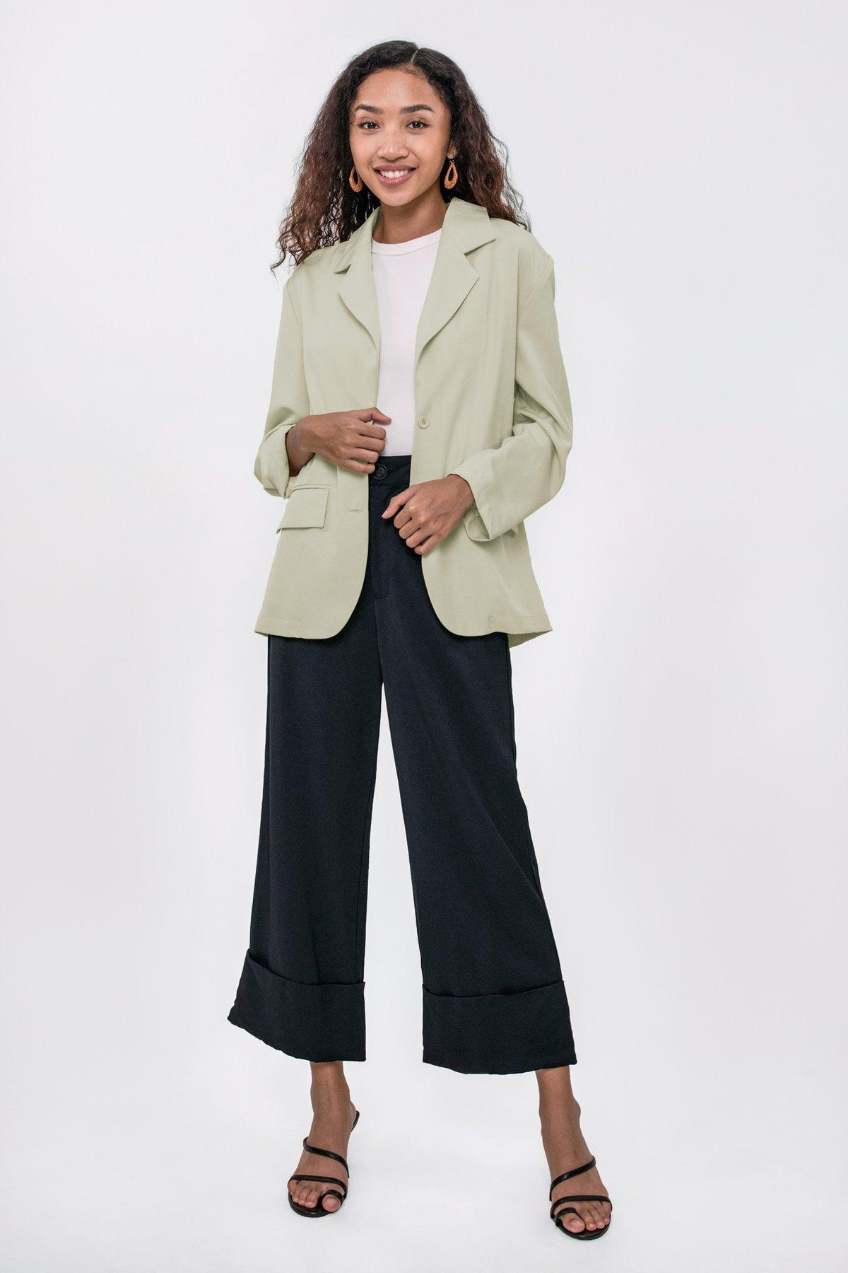 Marnie Cuffed Pants (Navy)