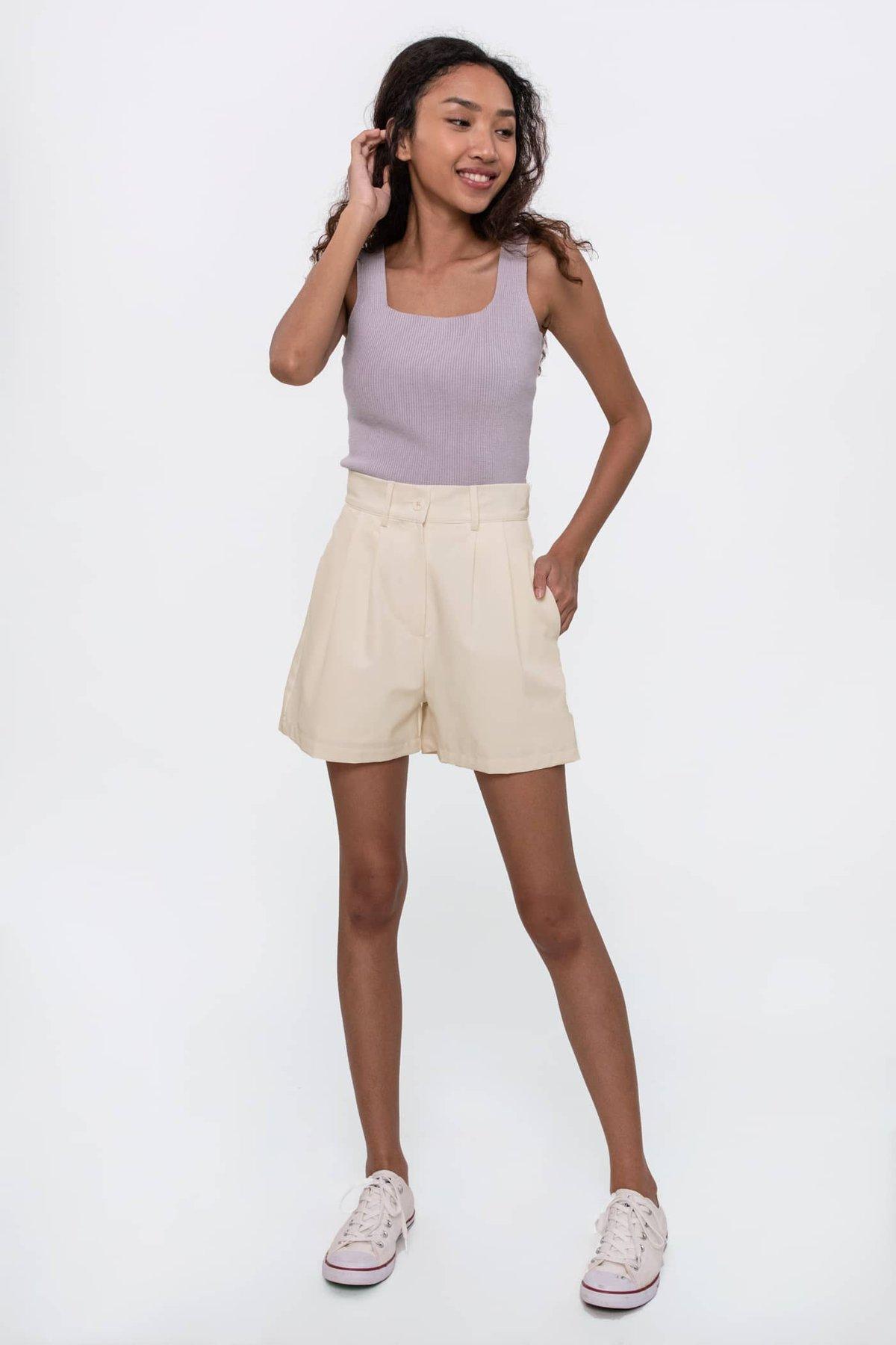 Mellow Knit Top (Lilac Grey)