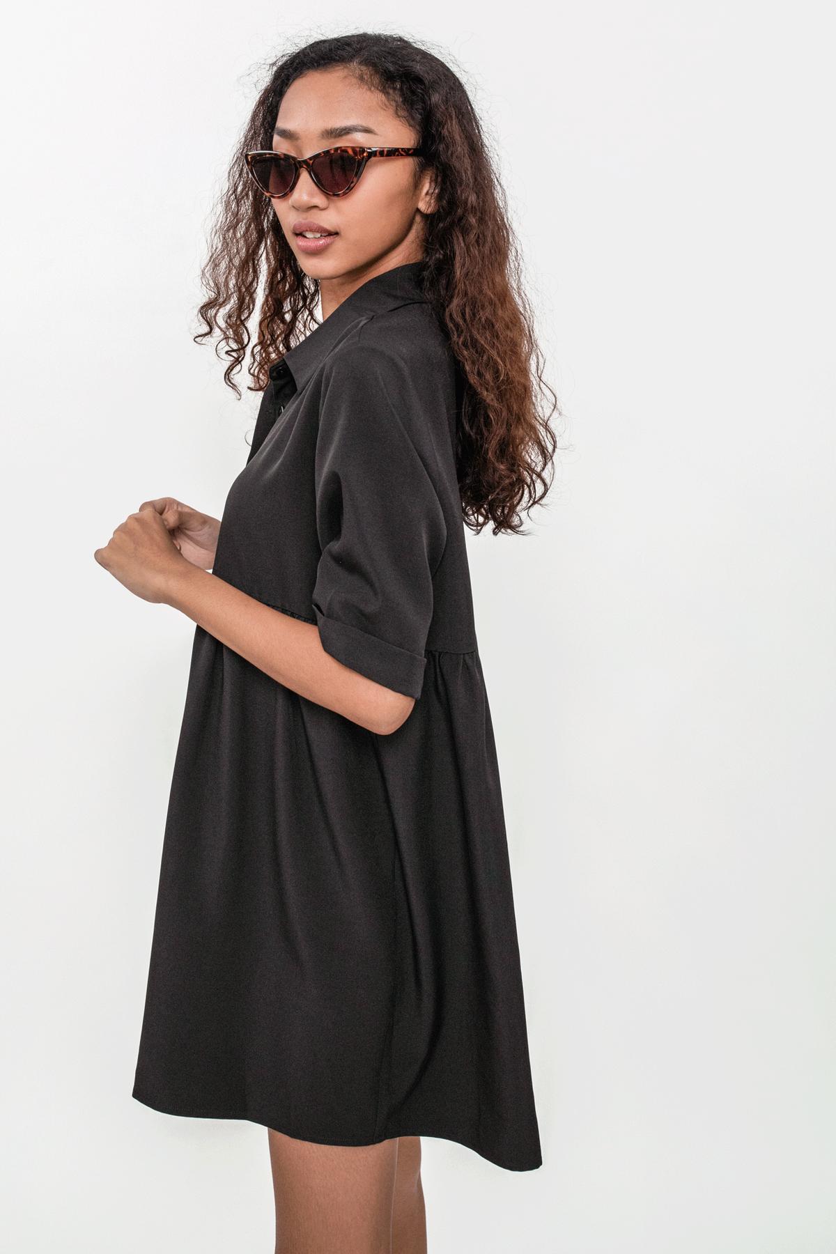Perry Babydoll Dress (Black)