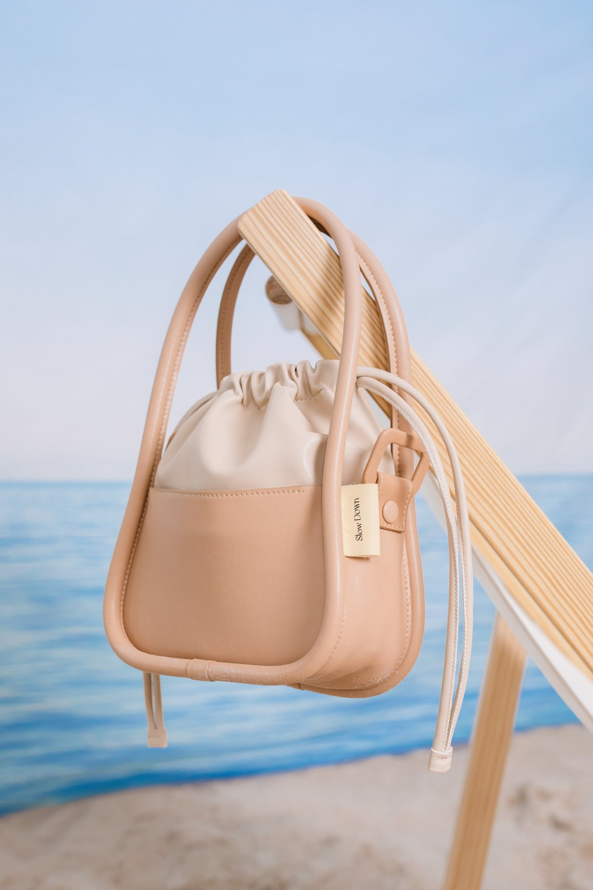 Take It Slow Bucket Bag (Camel) (TTR x Cream Couch) - TTR Exclusive