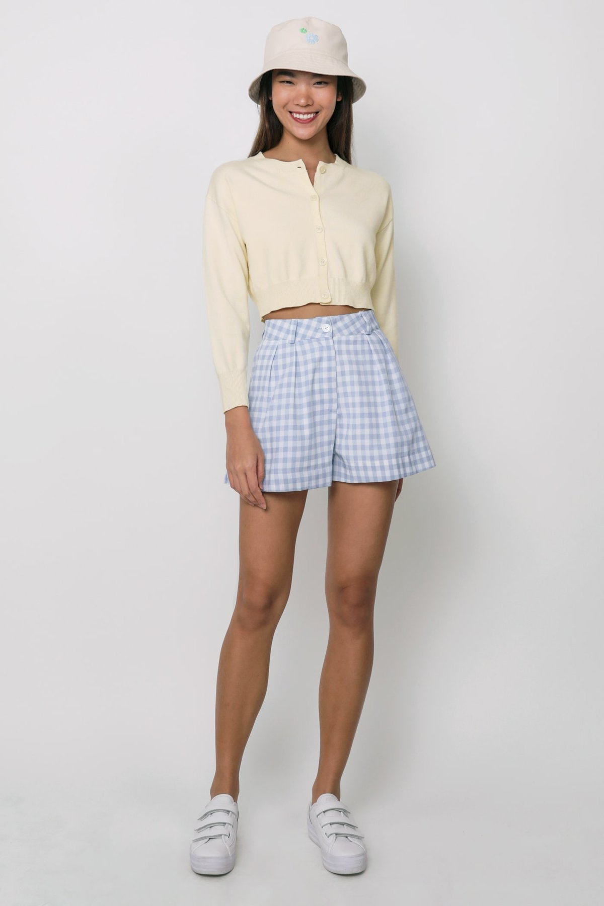 Cara Shorts (Blue Gingham)
