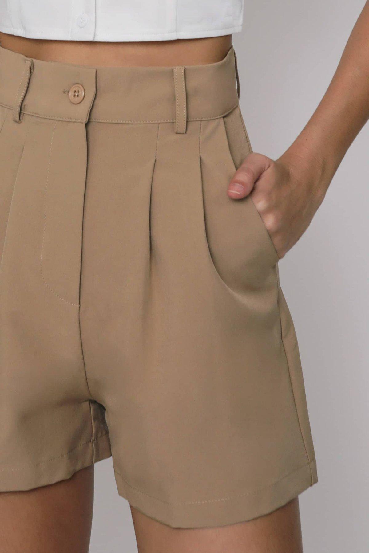 Dex Tailored Shorts (Camel)