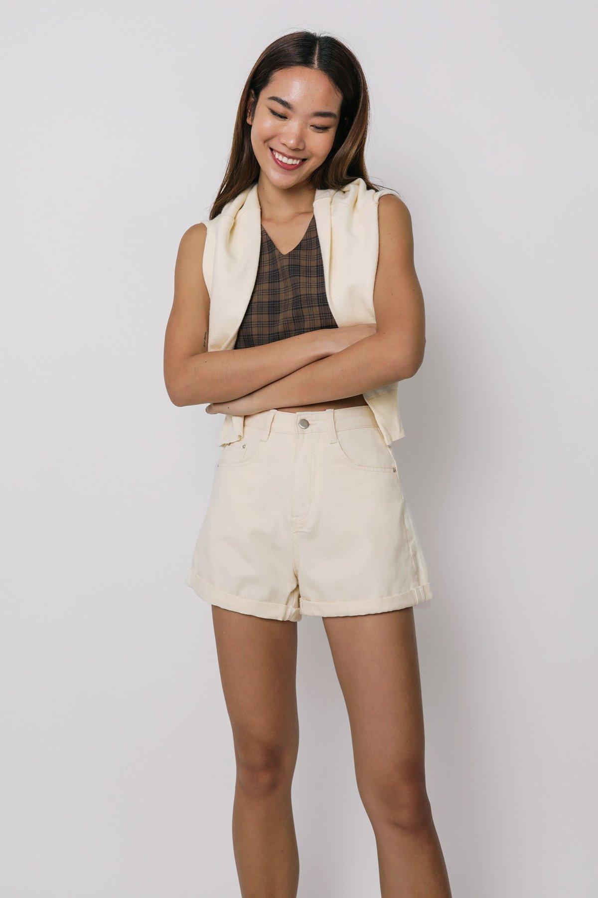 Elementary Denim Shorts (Oat)