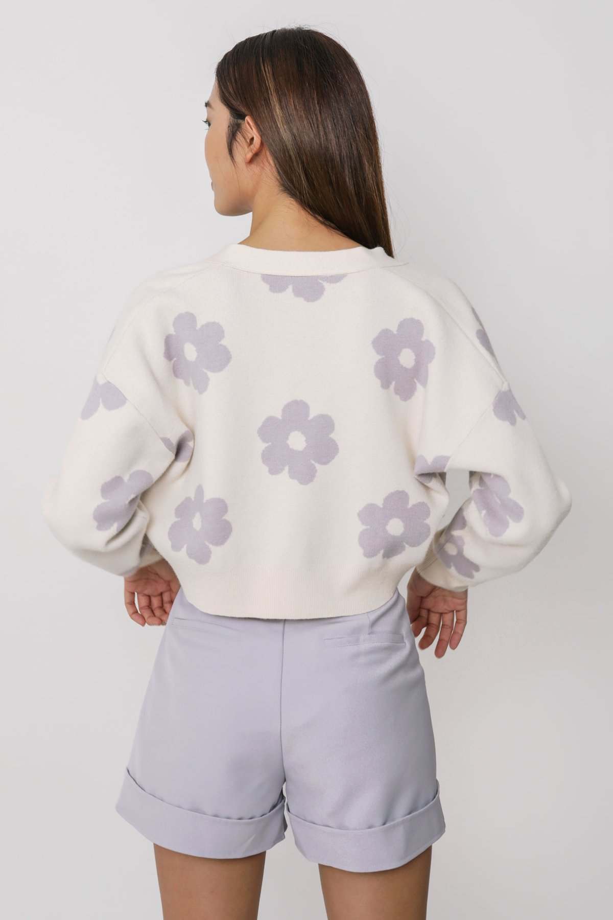 LIMITED EDITION Euphoria Floral Knit Cardigan (Lilac Florals)