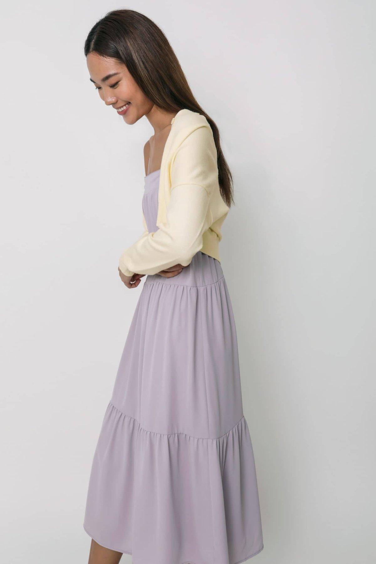 Frida Tent Midi Dress (Lilac)