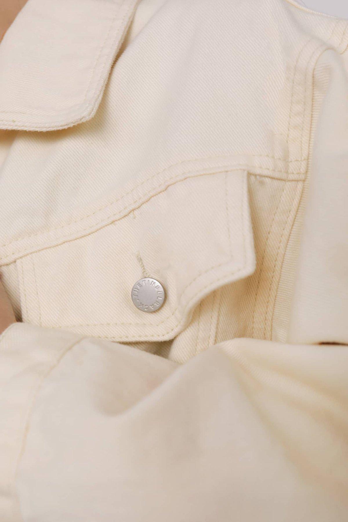 Joe Oversized Cropped Denim Jacket (Oat)
