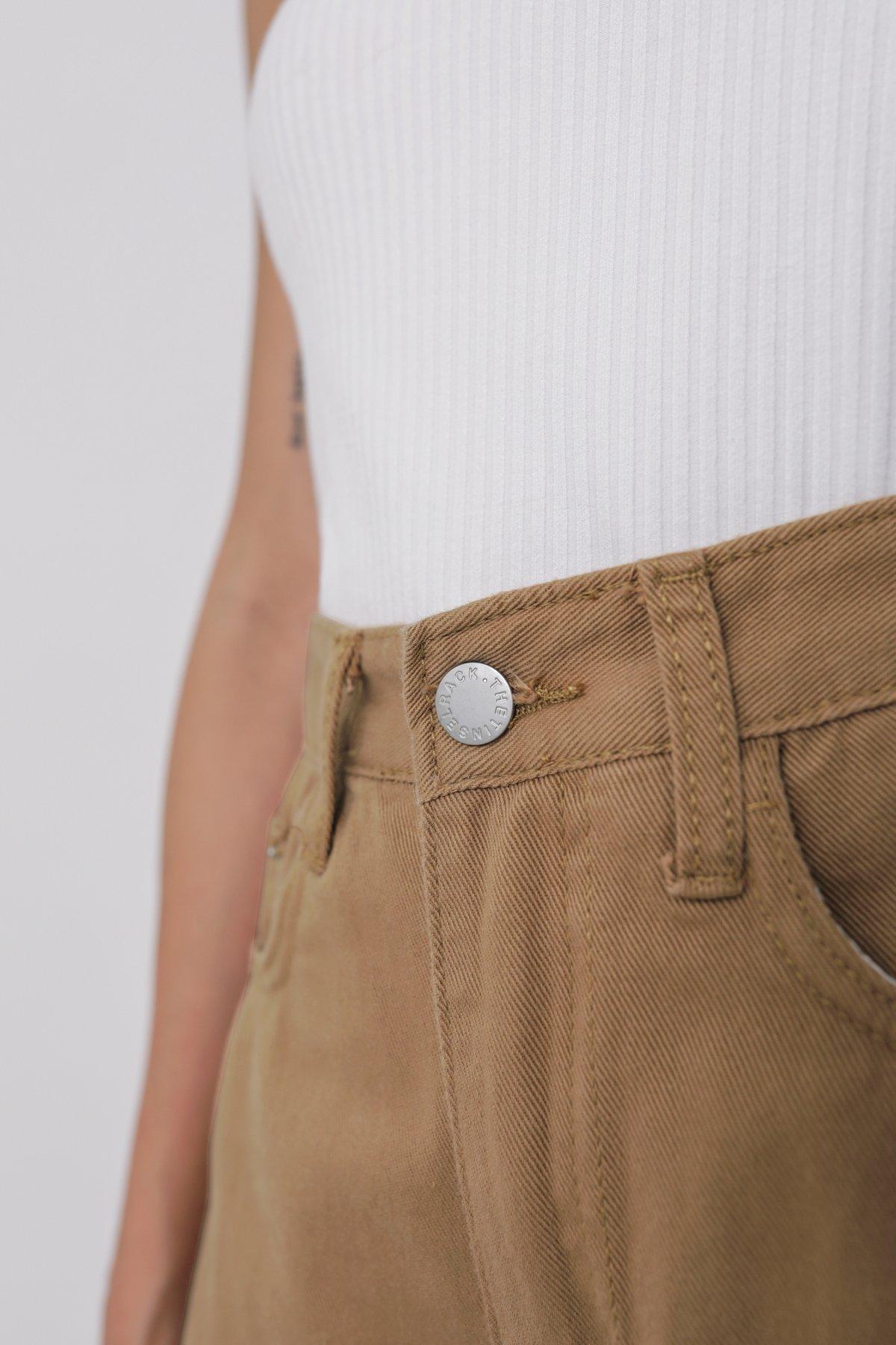 Josh Denim Shorts (Brown)