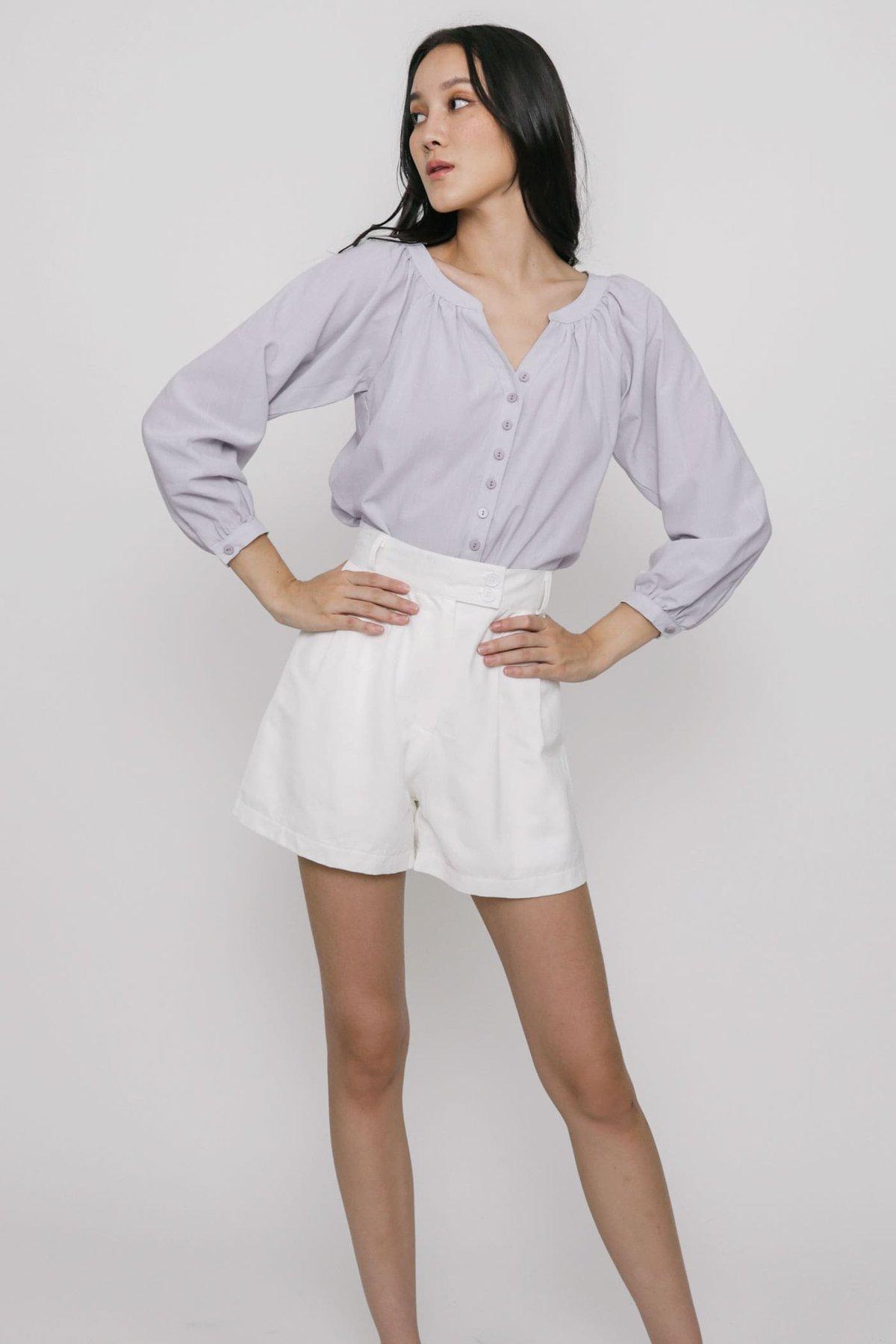 Kiri Button Blouse (Lilac)
