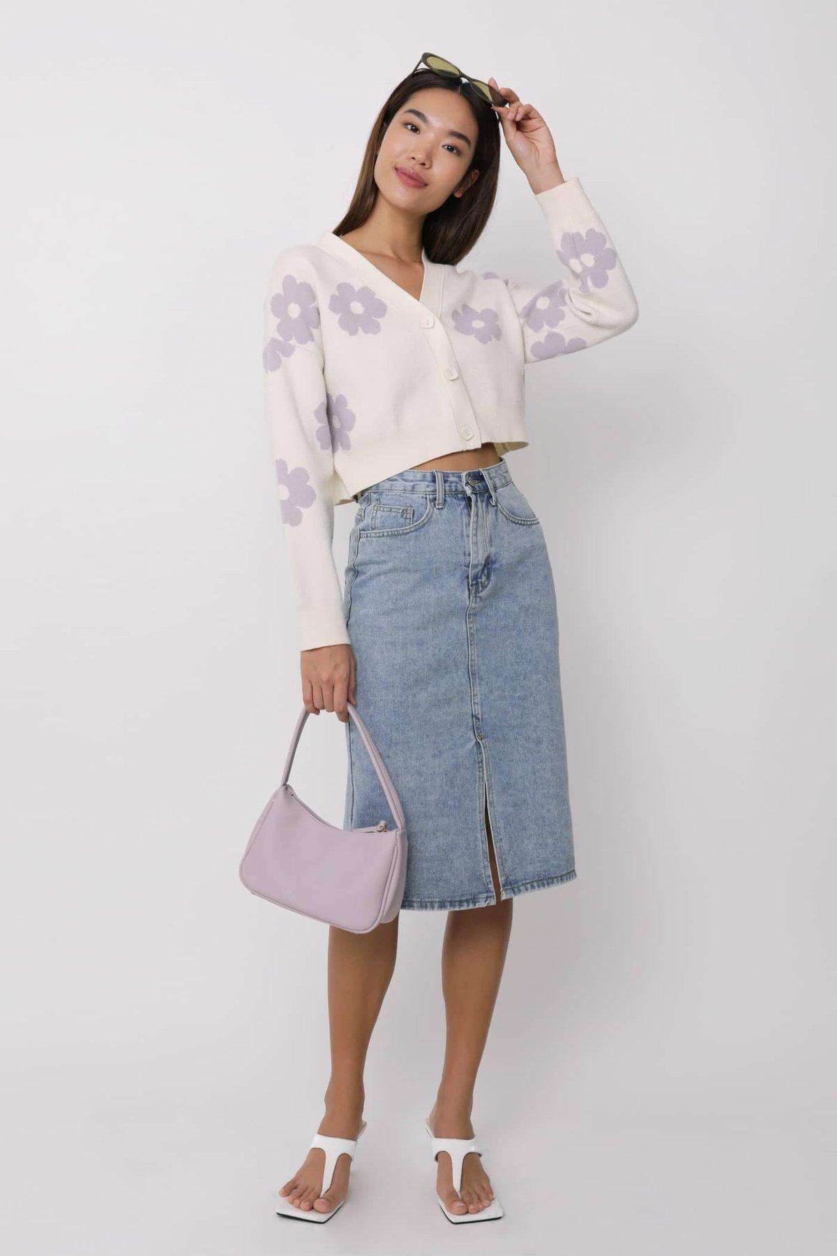 Leighton Denim Midi Skirt