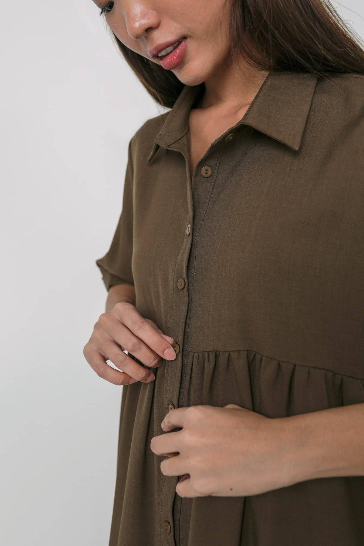 Perry Babydoll Dress (Mocha)