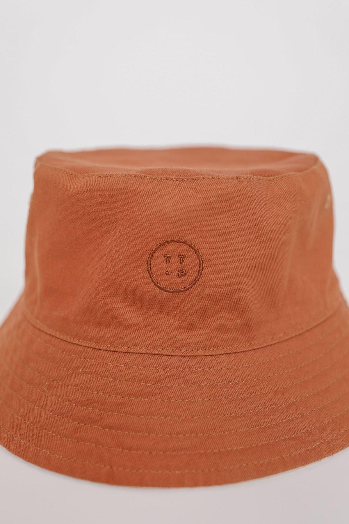 Reversible Bucket Hat (Rust/Cream)