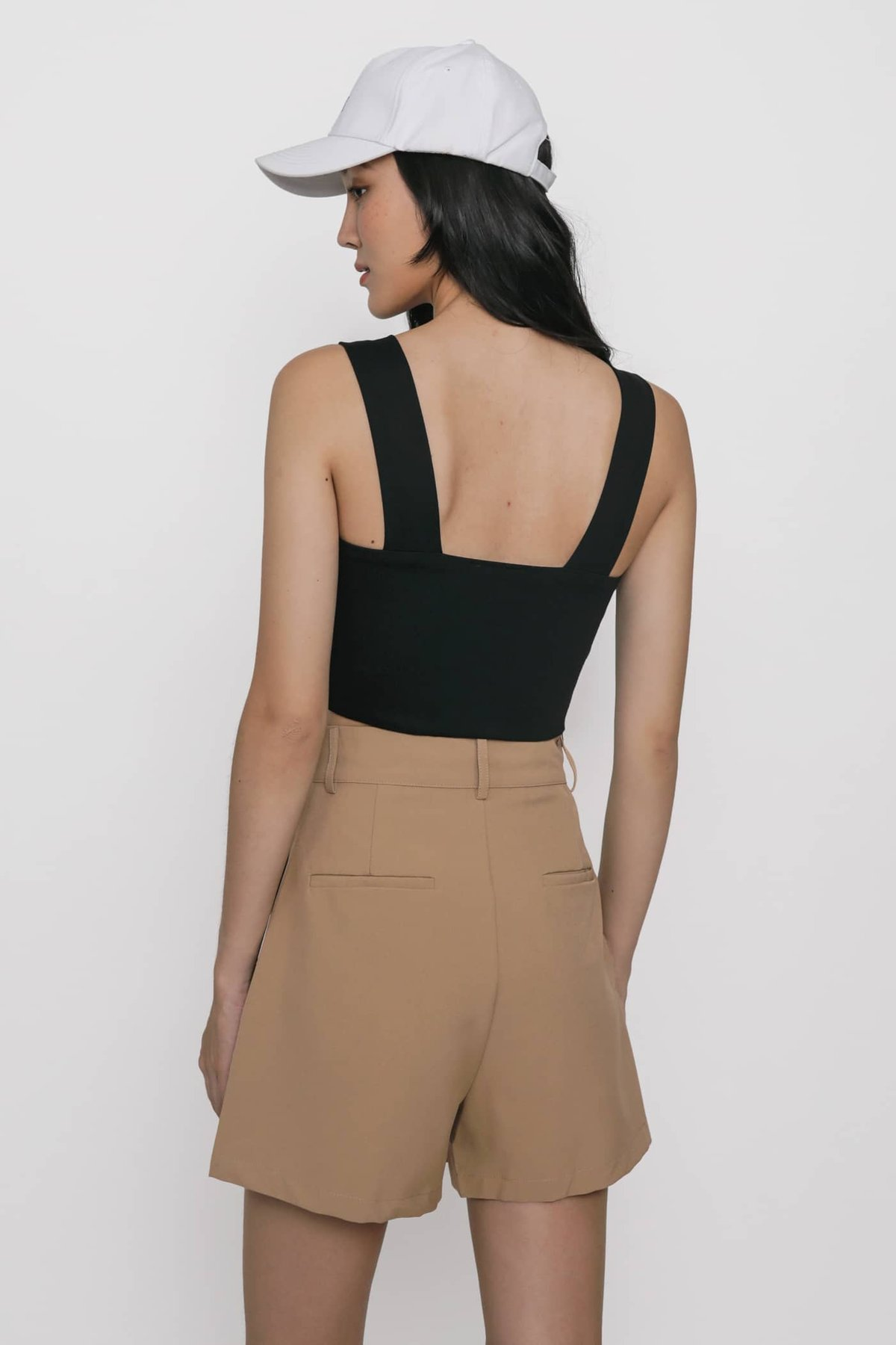 Abby Basic Cropped Top (Black)