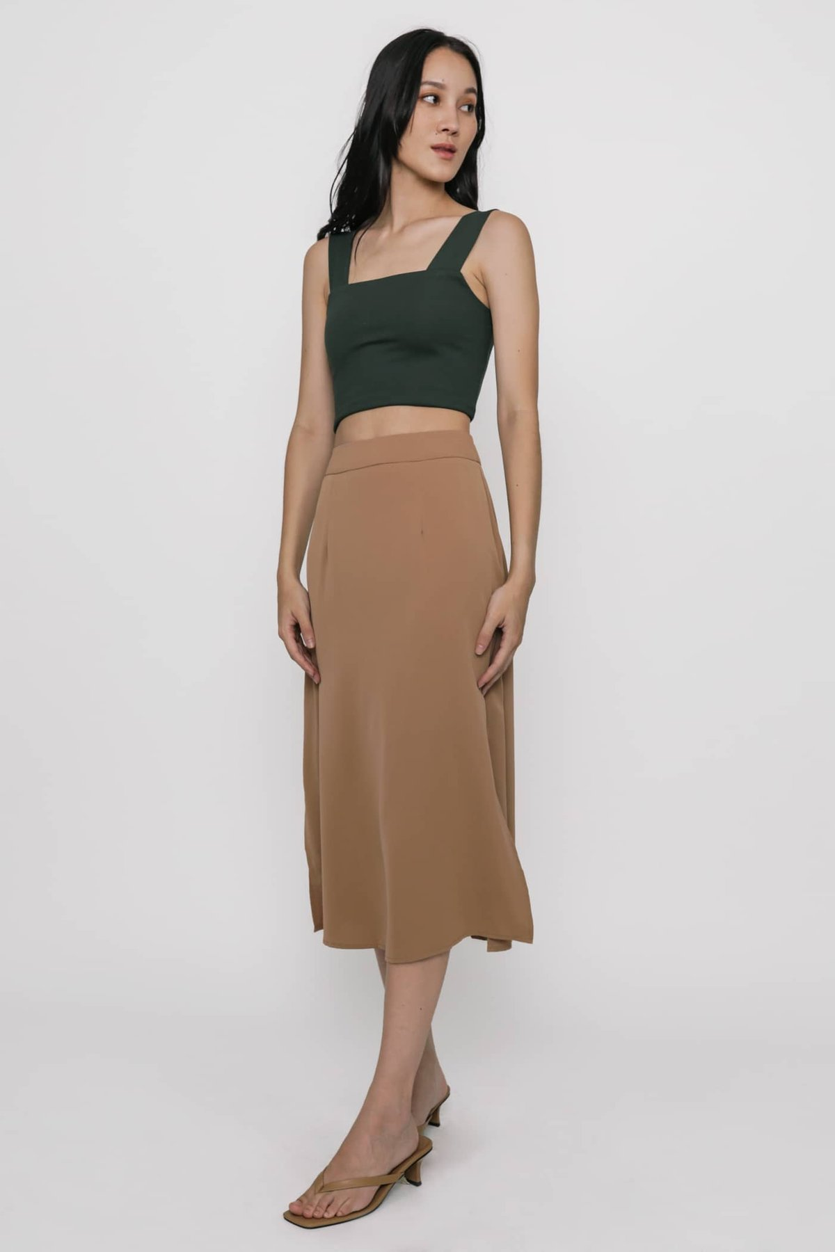 Abby Basic Cropped Top (Hunter Green)