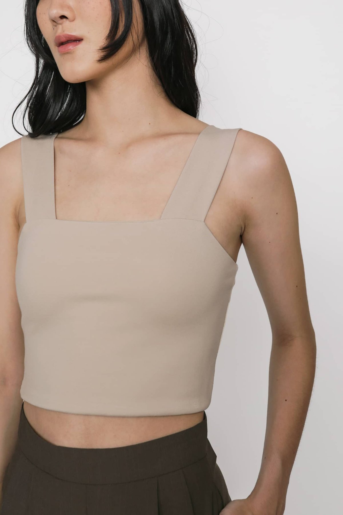 Abby Basic Cropped Top (Nude)