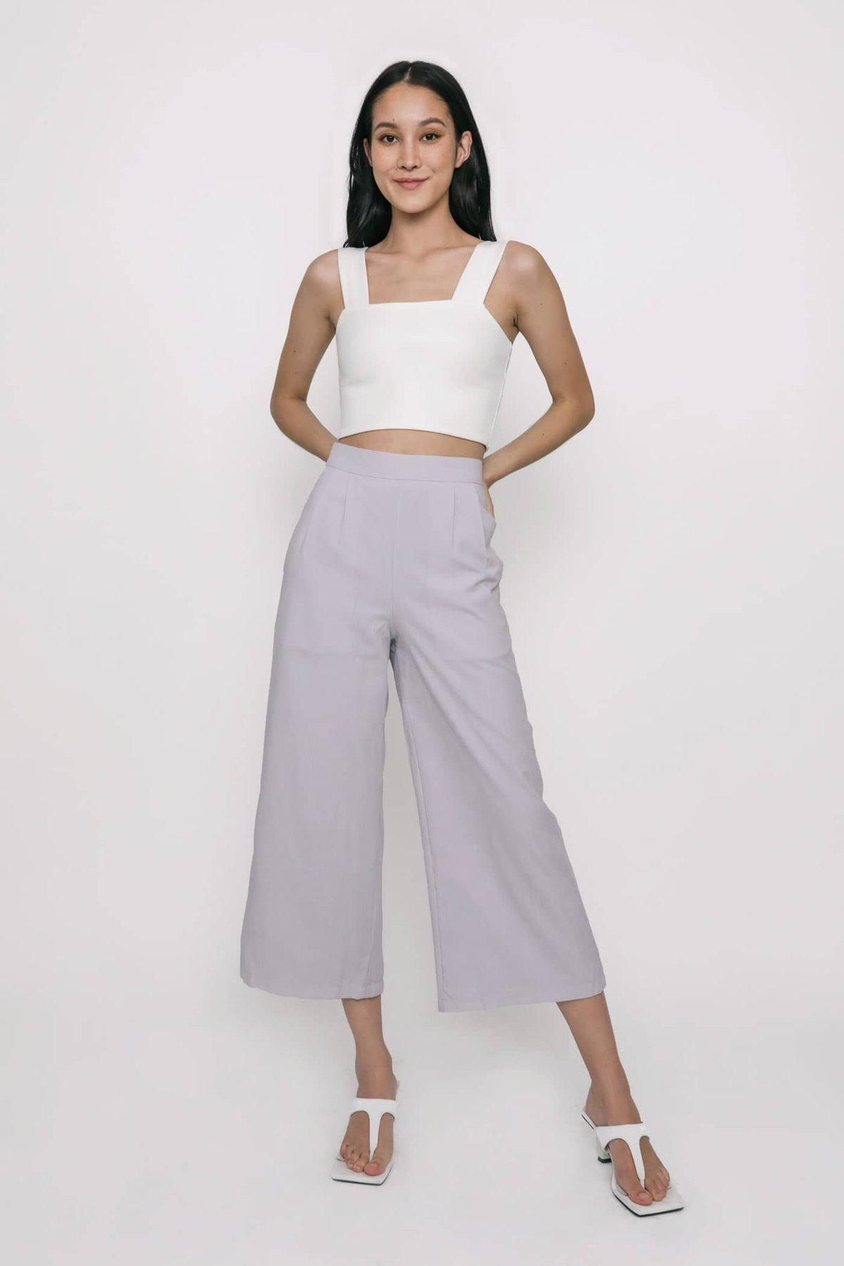 Carlton Straight Leg Culottes (Lilac)