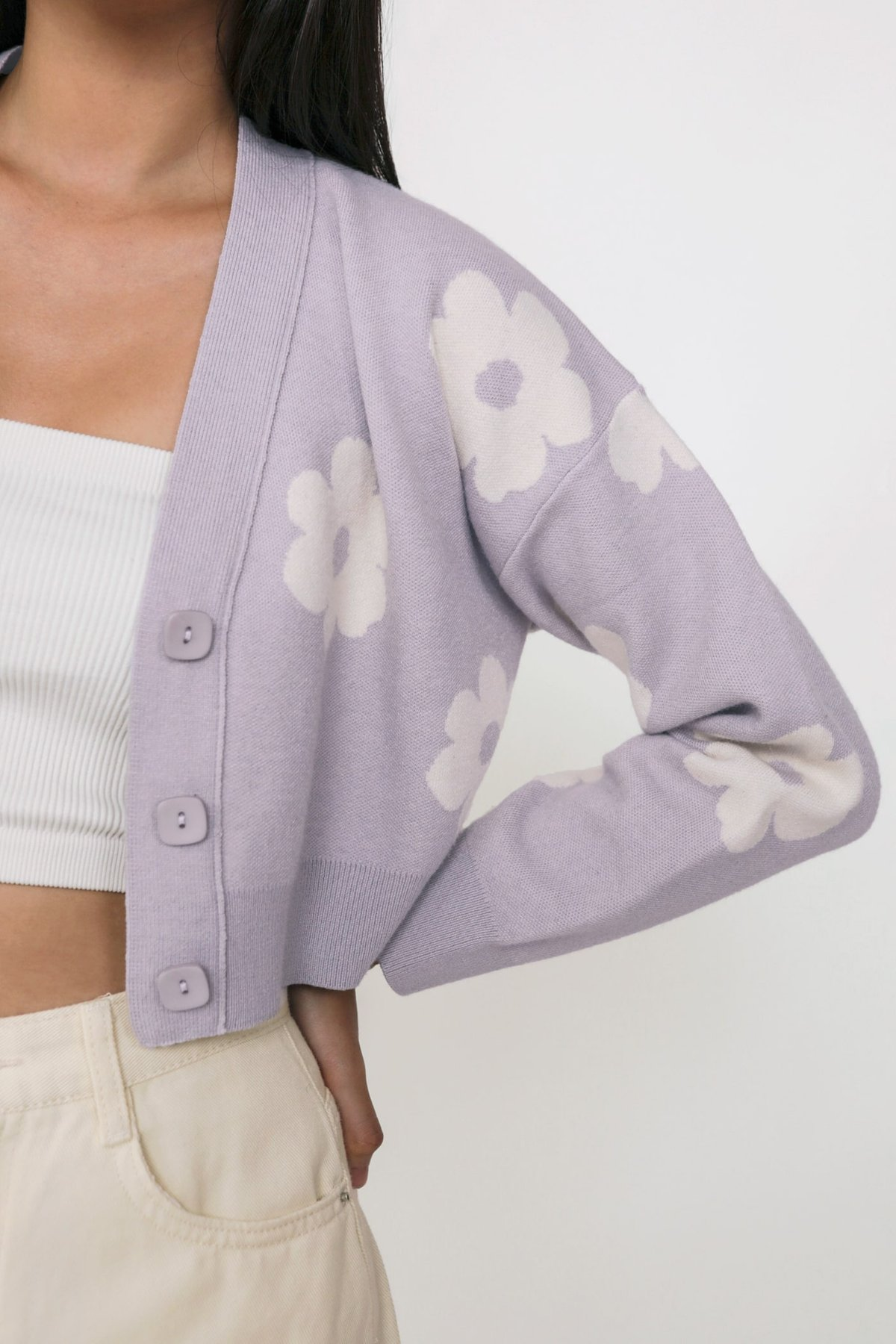 #1- Euphoria Knit Cardigan (Lilac Florals) Limited Edition
