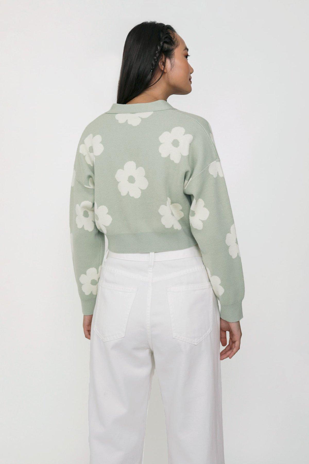 #1- Euphoria Knit Cardigan (Sage Florals) Limited Edition
