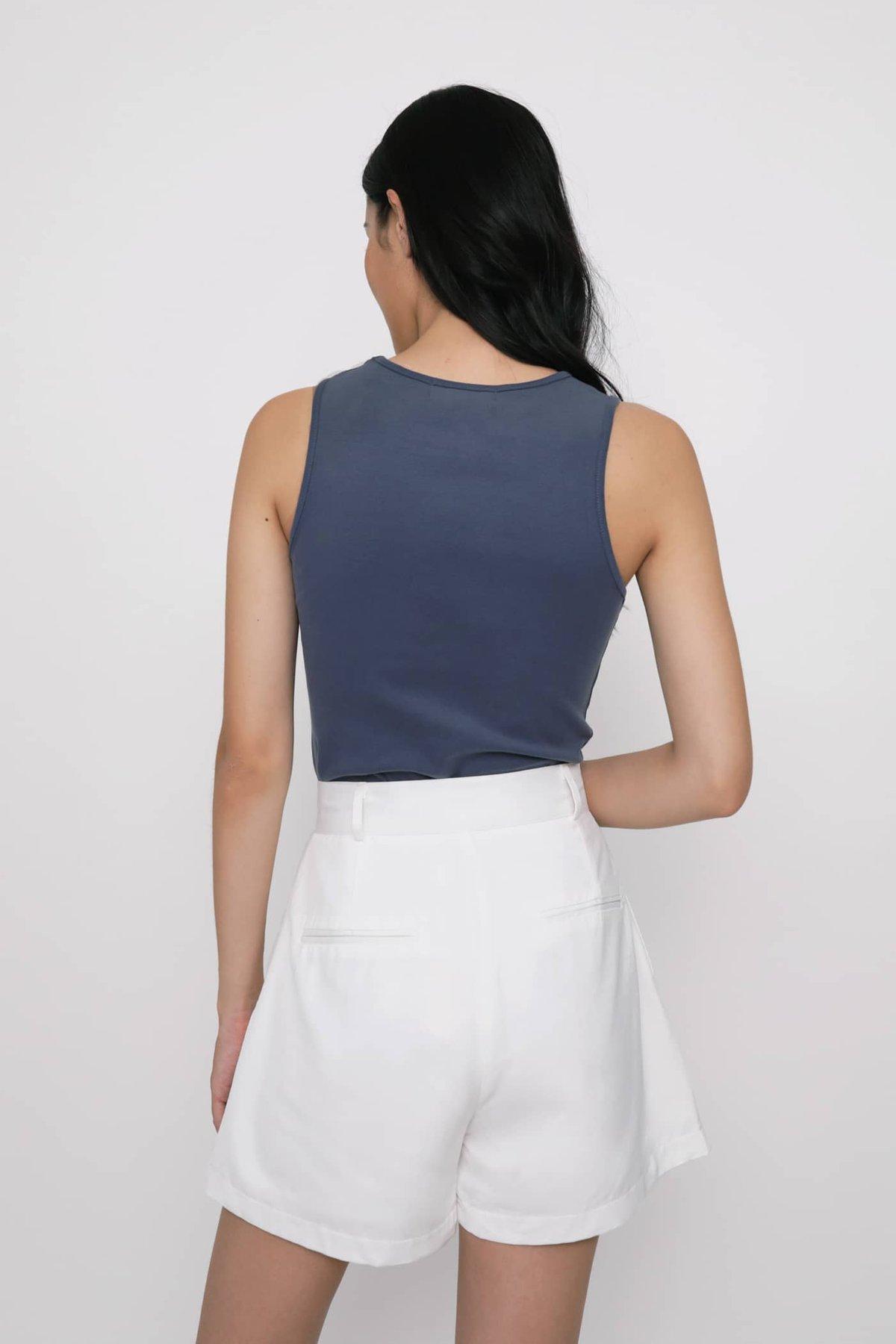 Ezra Basic Top (Slate Blue)