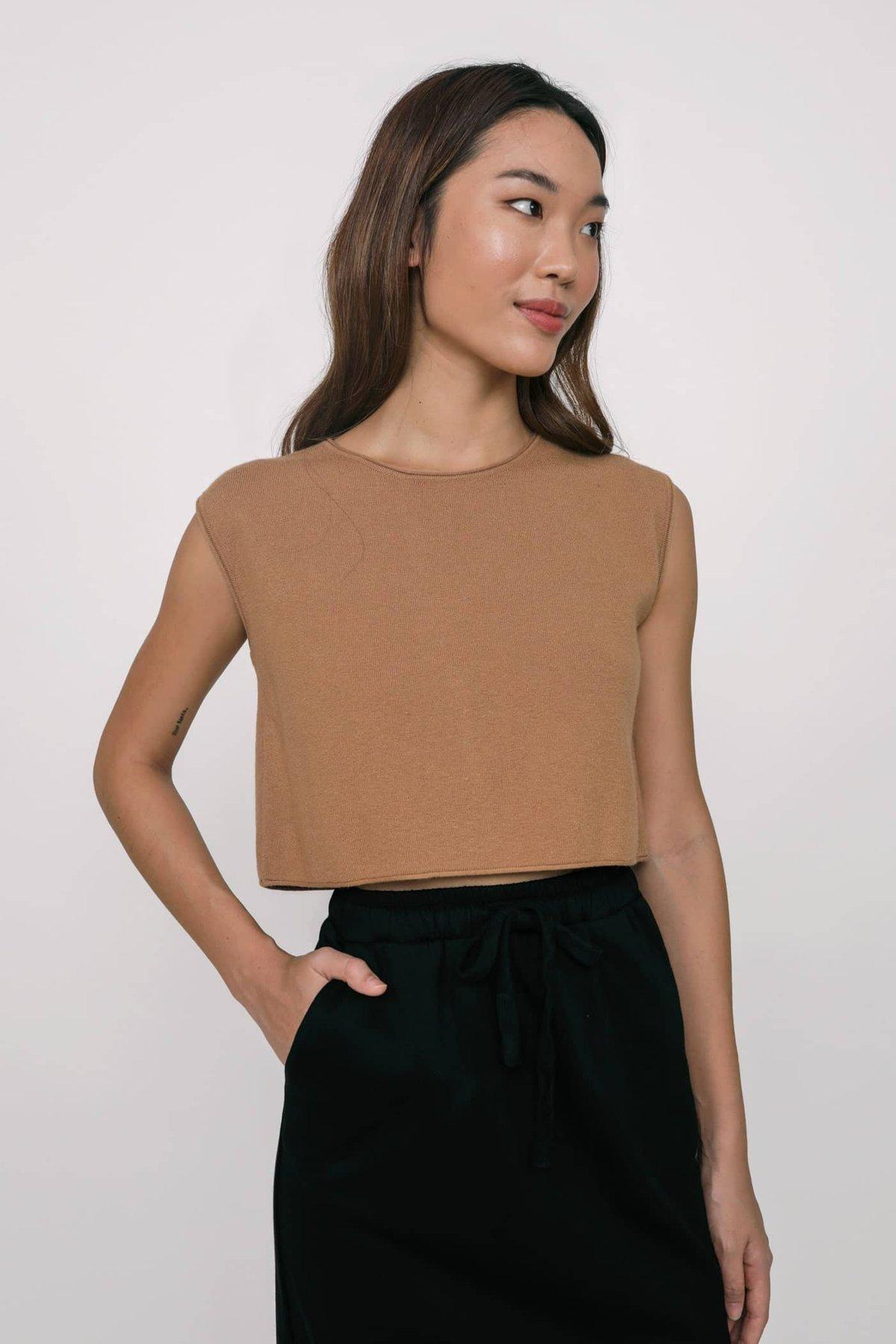 Nic Jersey Cotton Midi Skirt (Black)