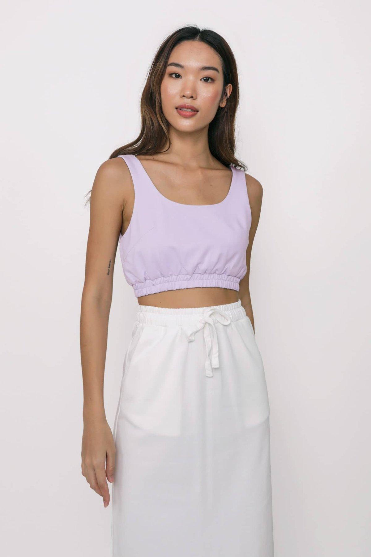 Nic Jersey Cotton Midi Skirt (White)